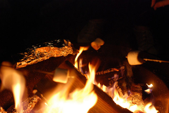 Smores by the campfire